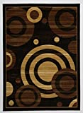 5 feet by 7 feet rug - Antep Rugs Kashan King Collection Geometric Area Rug GALAXY-Black and Beige 5' X 7'