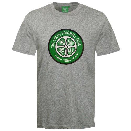 Celtic Football Club Official Soccer Gift Mens Crest T-Shirt Grey (Celtic Football Shirts)