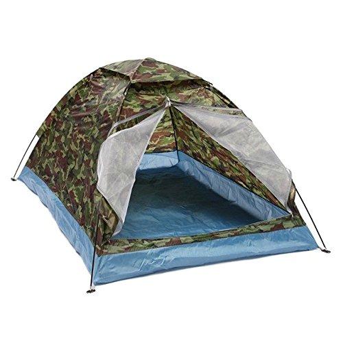 Bestwind 1.2KG 2 Person Zelt Ultraleicht Camouflage Single Layer WasserBesteändigkeit Camping Zelt mit Tragetasche für Wandern Angeln Reisen