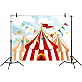 Funnytree 5x3ft Vinyl Photography Background Backdrops cartoon circus board child baby shower photo studio prop photobooth photoshoot