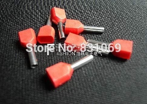 Onvas 1000pcs//Lot 16 AWG 1.5mm2 Pre-Insulated Terminals Wire Ferrules End Sleeve TE1512