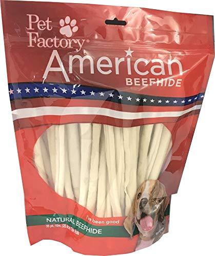 Pet Factory American Beefhide Chews 28223 Rawhide Natural Flavor 10