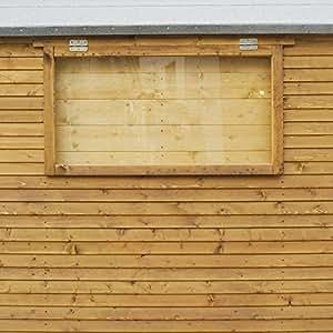 """Waltons 3'5""""x 2"""" interior cobertizo ventana obturador de seguridad para ventanas de apertura"""