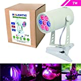 RoLightic 7W Led Plant Growing Light,360 Degree Adjustable, Indoor Aquarium Greenhouse Hydroponic Plants Flower Growing,3 Bands,Clip Included