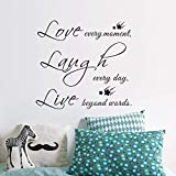 Live Laugh Love Stars Wall Decals/PVC Removable Art Home Wall Sticker/Room Wall Decor