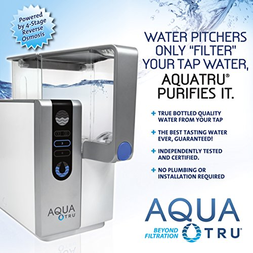 AQUA TRU Replacement 2 Stage Pre-Filter Stages 1 /& 2 for Countertop Reverse Osmosis Water Filter Purification System