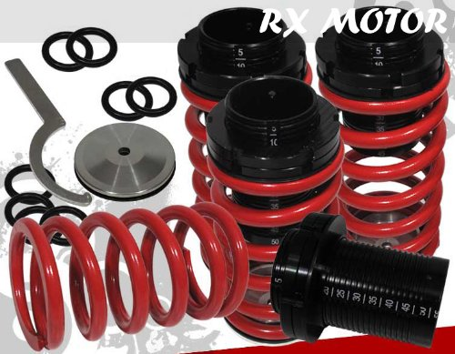 1989-1994 Nissan 240sx S13 Scale 4 Pc Coilover Lowering Spring Kit in Red ()
