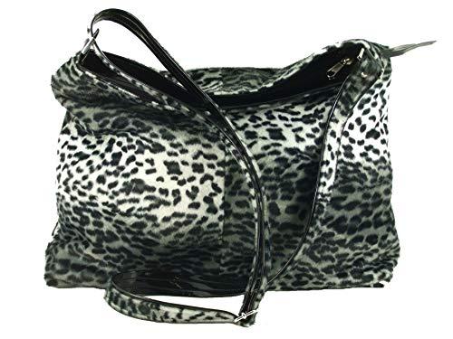 LONI Womens Shoulder Cross-body Hobo Bag Leopard Zebra Faux Snakeskin Animal Print