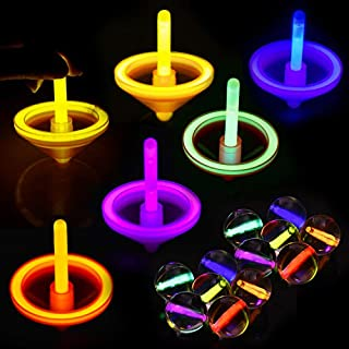 FUN LITTLE TOYS 12 Pack Glow Sticks for Halloween Decoration, Halloween Party Favors, Kids Prizes (Including Bouncy Balls, Spinning Tops and Small Glow Sticks)