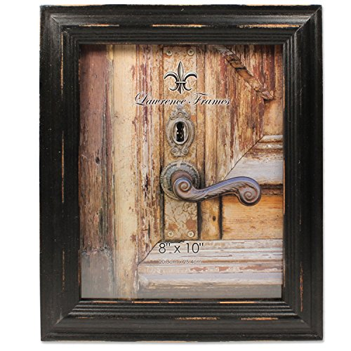 - 8x10 Weathered Black Wood Picture Frame