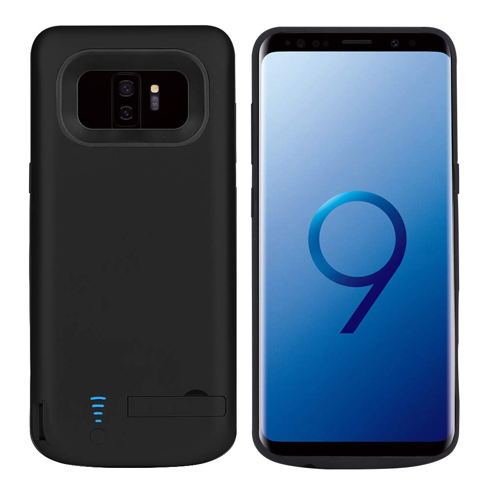 official photos 5100b ab668 RUNSY Samsung Galaxy S9 Plus / S9 + Battery Case, 6000mAh Rechargeable  Extended Battery Charging Case, External Battery Charger Case, Backup Power  ...