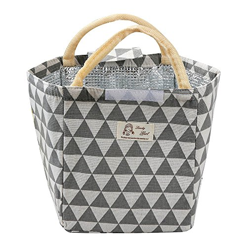 Belloc 24X20X15cm Approx Thermal Picnic Cooler Lunch Bags For Women Kids Men Insulated Thermal Canvas Box Tote Food Portable Thicken Lunch Handbag (Gray) by Belloc Home & Garden (Image #3)
