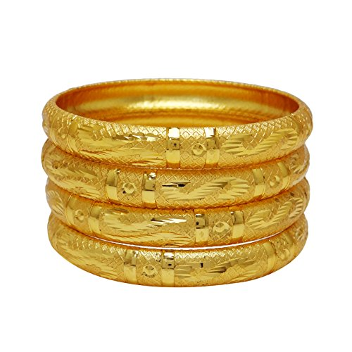 Banithani Designer 18K Goldplated Bangle Set Indian Traditional Jewelry Gift For Her 210