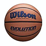 Wilson WTB0595XB0702 Evolution Game Basketball, Brown/Navy, Official Size