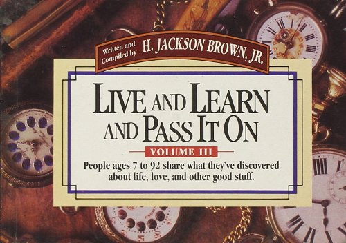 Read Online Live and Learn and Pass it on pdf epub