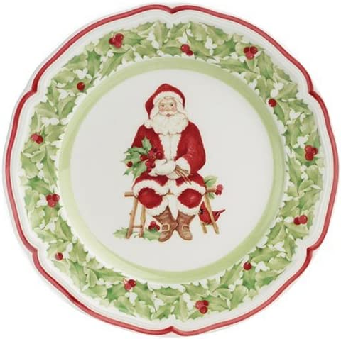 Villeroy Noel Amazon.| Villeroy & Boch Joy Noel Holly Salad Plate: Salad Plates
