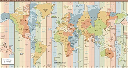(Map Poster - Standard Time Zones of The World (2015) 13