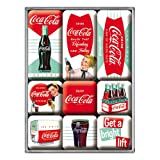 Coca Cola Diner set of 9 Mini Fridge Magnets in box (na)