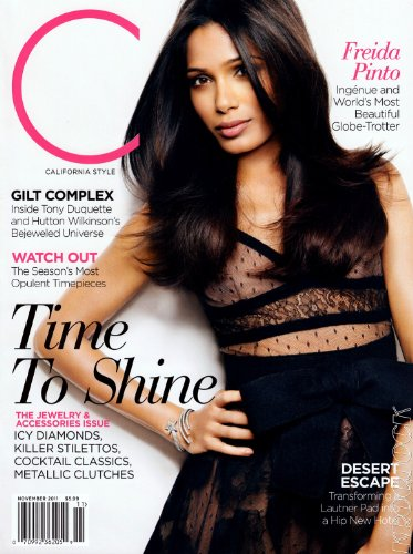 Freida Pinto - California Style Magazine - November 2011 - Slumdog Millionaire - Rise of the Planet of the Apes - You Will Meet a Tall Dark Stranger