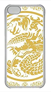Brian114 iPhone 5C Case - China Dragon Oriental Style 22 Hard Clear iPhone 5C Cover, iPhone 5C Cases, Cute iPhone 5c Case