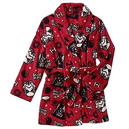 STAR WARS Boy\'s Size 8 Fleece Bath Robe, Galactic Empire Bathrobe