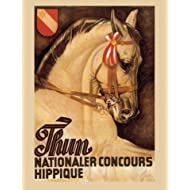 """Horse Thun Nationaler Concours Hippique Equestrian Show Poster 12"""" X 16"""" Image Size Vintage Poster Reproduction"""