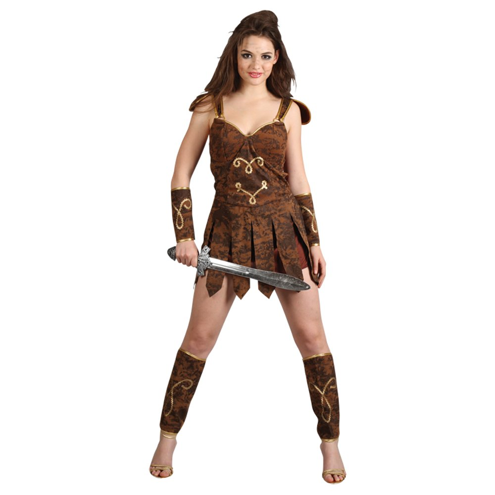 Womens Med Gladiator Girl Sexy Outfit for Toga Party Roman Sparticus Fancy  Dress: Amazon.co.uk: Toys & Games