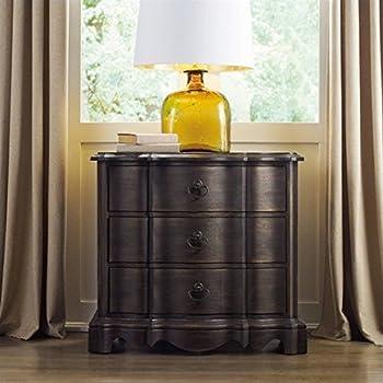 hooker furniture corsica 3drawer nightstand in dark wood