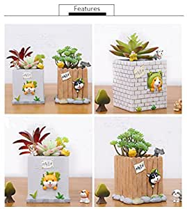 Decoración del hogar animales figuras de jarrón multifunción escritorio decoración Case Pen Holder Hosehold Decor jarrón Animal jarrones kangsanli