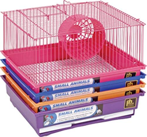One Story Prevue Pet Products SPV2000C 4-Pack Hamster Gerbil 1-Story Pastel Bar Cage, colors Vary