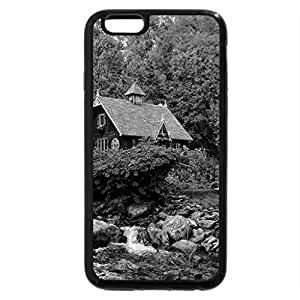 iPhone 6S Case, iPhone 6 Case (Black & White) - House in the glen