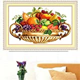 Mangocore Needlework,DIY DMC Cross stitch,Sets For Embroidery kits,Jinpen fruit Patterns Counted Cross-Stitching,Wall Home Decro