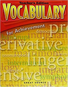 Vocabulary for achievement teachers edition grade 6 intro course vocabulary for achievement teachers edition grade 6 intro course 2006 4th edition by great source 2005 paperback amazon books fandeluxe Choice Image
