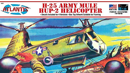H-25A HUP Army Mule Helicopter Model Kit 1/48 Atlantis Toy and Hobby