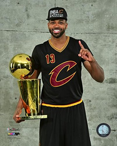 "Tristan Thompson Cleveland Cavaliers 2016 NBA Finals Trophy Photo (8"" x 10"")"