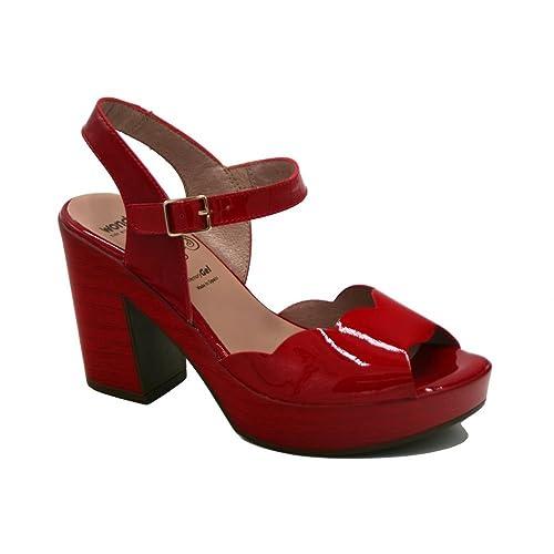 f7a408eeeb9 Wonders - Wonders L9131 Sandalia Plataforma Charol Rojo - 57045-41:  Amazon.es: Zapatos y complementos