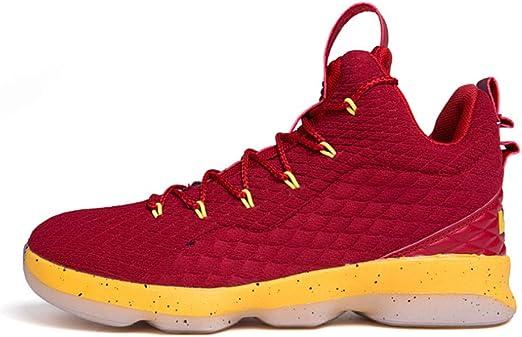 ASDFGH Zapatos de Baloncesto, Alto-Top Antideslizante absorción de ...