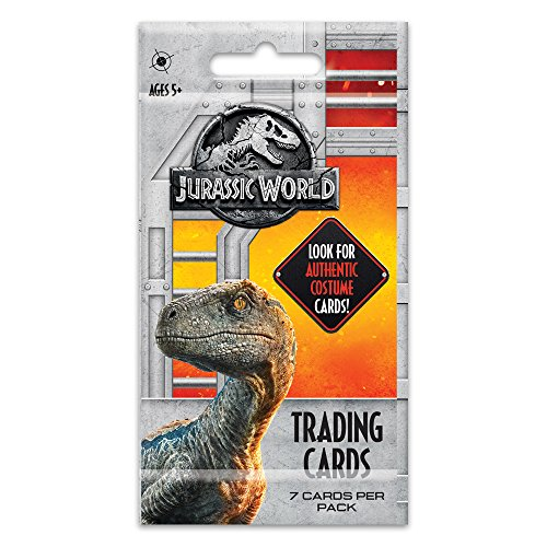 Jurassic World 97629520071 2018 Fallen Kingdom Trading Cards (7 per Pack) – Look for Authentic Costume Jurassic Park Toys | Features Owen Grady (Chris Pratt), Indominus Rex