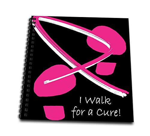 3dRose db_5903_2 Breast Cancer Awareness Footprints Iii Memory Book, 12 by 12-Inch