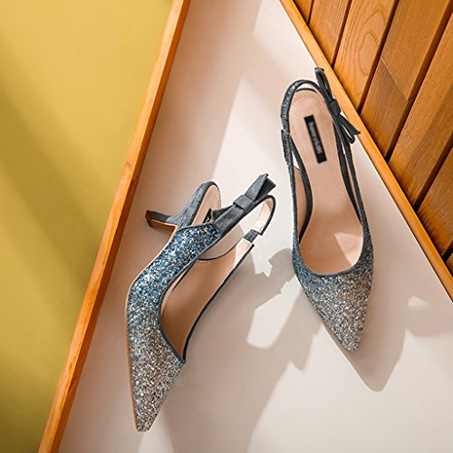 o Dama Lentejuelas Azul Altos De 36 De Fina De Tacones Con De De Zapatos Verano Color Novia Aguja Tacones Elegantes Honor ZCJB Tama Sandalias De Zapatos Primavera Zapatos Mujer q74pwxY