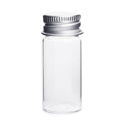 10 pcs claro botellas de vidrio mensaje que deseen botellas maquillaje cosméticos muestra jarra de botellas