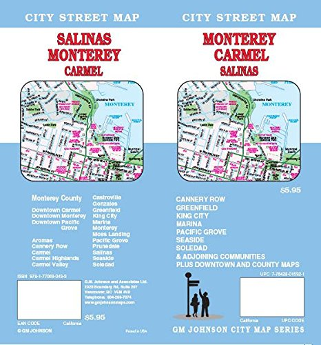 Monterey / Carmel / Salinas, California Street Map