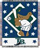 Tampa Bay Devil Rays 36x48 Woven Baby Throw Blanket - Licensed MLB Baseball Merchandise