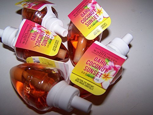 Lot of 5 Bath & Body Works Oahu Coconut Sunset Wallflower Home Fragrance Refill Bulbs (Scented) by Bath & Body Works