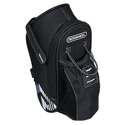 Allnice Bike Saddle Bag, 1.6L Mountain Road MTB Bicycle Cycling Polyester Saddle Bag with Pocket for Water Bottle, Bike Back Seat Rear Bag Repair Tools Pocket Pack Riding Cycling Supplies