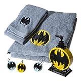 Batman Embroidered Towel Set - GREY