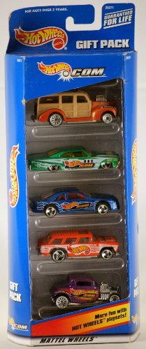 1998 - Mattel - Hot Wheels - Dot Com Gift Pack - 5 Car Set - Rare - Out of Production - New - Mint ()
