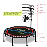 "ONETWOFIT 51"" Silent Trampoline with Adjustable"