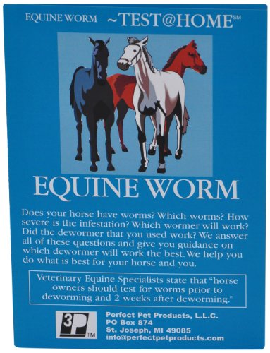 EQUINE WORM TEST detects worms in horses, mules, cattle, chicken, goats, camels, etc. (Just Collect Sample and Mail to our Vet Lab)