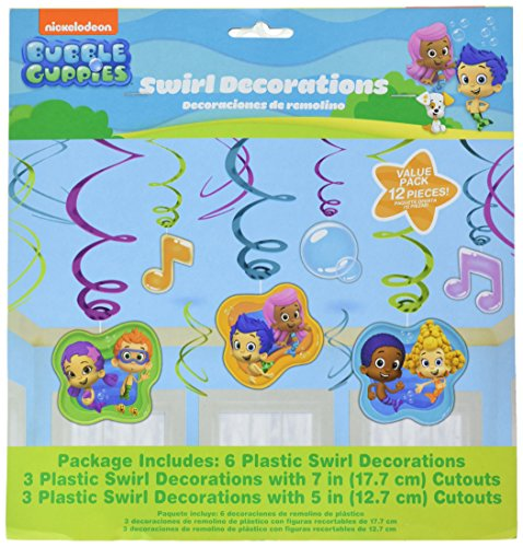 Bubble Guppies Foil Swirl Hanging Decorations (Each) -